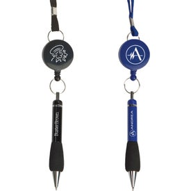 The Soft Grip Metal Pen with Lanyard and Retractor