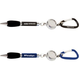 The Soft Grip Metal Pen with Carabiner and Retractor