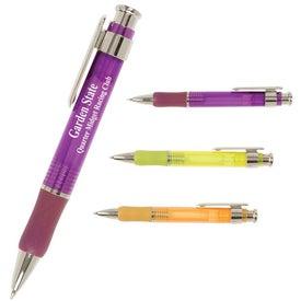 Personalized Translucent Plunger Rubber Grip Pen
