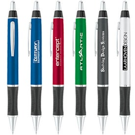 Personalized Tri-Grip Metallic Ballpoint Pen