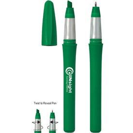 Branded Twist Highlighter/Ballpoint Pen
