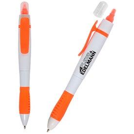 Branded White Sands Pen/Highlighter