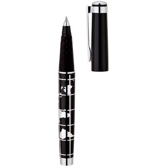 Promotional world map aluminum rollerball pens with custom logo black world map aluminum rollerball pen sciox Images
