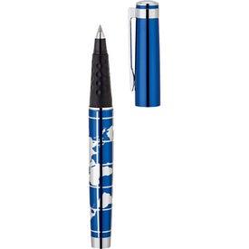 Customized World Map Aluminum Rollerball Pen