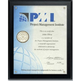 Certificate Holder and Overlay Plaques (7