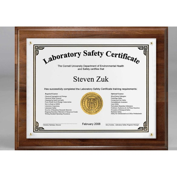 Brown Certificate Holder and Overlay Plaque