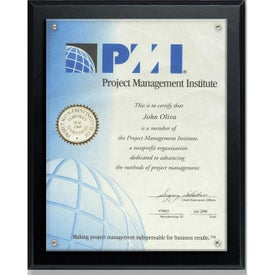 Certificate Holder and Overlay Plaques (10.5