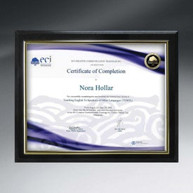 Slide-In Certificate Plaques with Ebony Finish