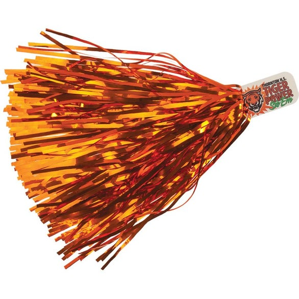 Metallic Orange Metallic Streamer Pom