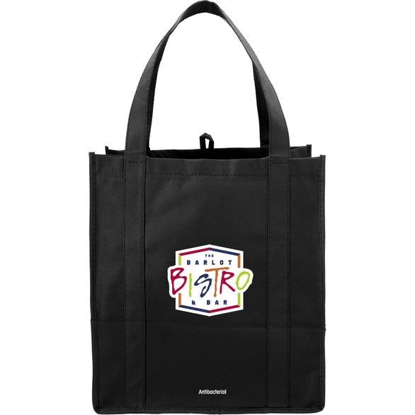 Black Hercules Grocery Tote with Antimicrobial