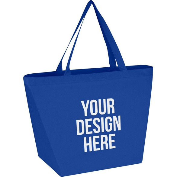 Royal Blue Non-Woven Shopper Tote Bag with Antimicrobial Additive