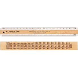 Double Bevel Inches and Metric Rulers (12