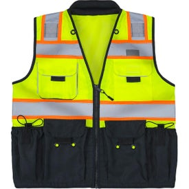 ANSI Class 2 Deluxe Black Bottom Surveyors Vests (Men''s)