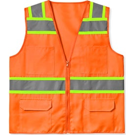 ANSI Class 2 Solid Twill 6 Pocket Safety Vests (Men''s)