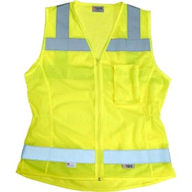 Xtreme Visibility Fitted Class 2 Zip Safety Vests (Women''s)
