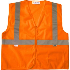 Xtreme Visibility Value Class 2 Zip Mesh Safety Vests (Unisex, Orange)