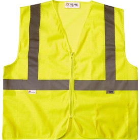 Xtreme Visibility Value Class 2 Zip Mesh Safety Vests (Unisex, Yellow)