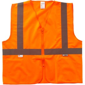 Xtreme Visibility Value Class 2 Zip Solid Safety Vests (Unisex, Orange)