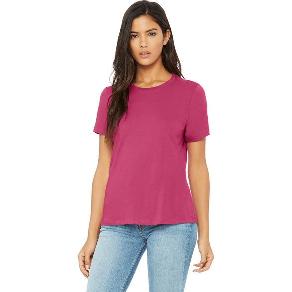 Berry Bella+Canvas Relaxed Jersey Short-Sleeve T-Shirt