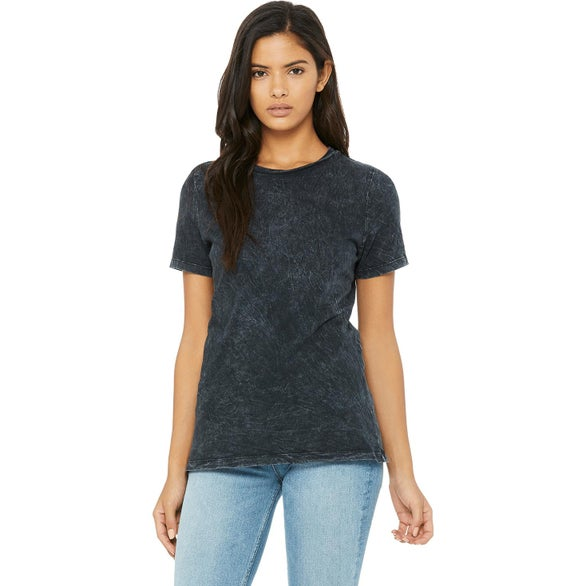 Black Mineral Wash Bella+Canvas Relaxed Jersey Short-Sleeve T-Shirt