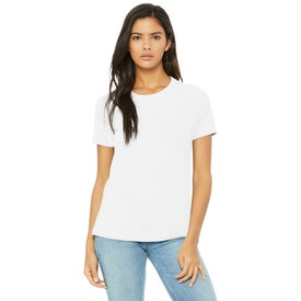 Bella+Canvas Relaxed Jersey Short-Sleeve T-Shirts (Women''s, White)