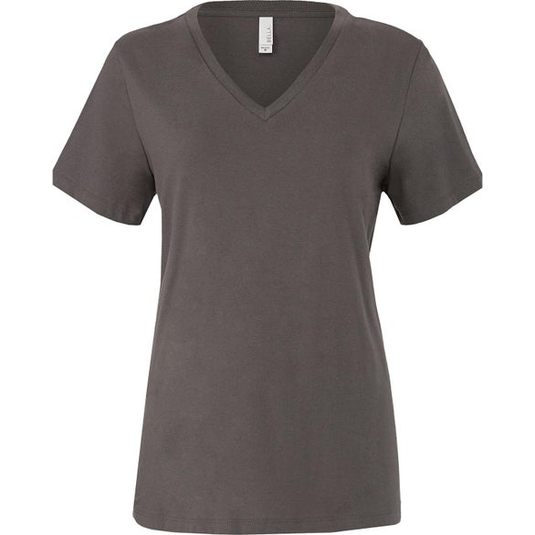 Asphalt Bella+Canvas Relaxed Jersey V-Neck T-Shirt