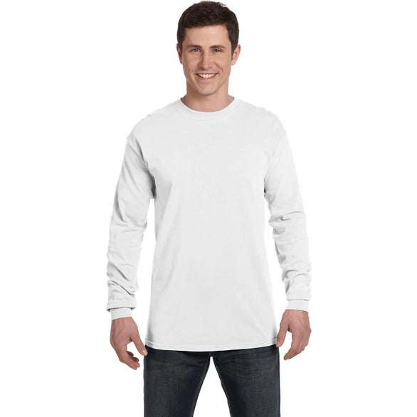 White Comfort Colors Adult Heavyweight RS Long-Sleeve Shirt