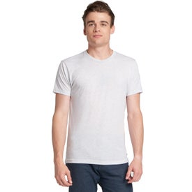 Next Level Triblend Crew T-Shirts (Men''s, Heather White, No Quick Ship)