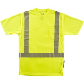 Xtreme-Flex Class 2 Short Sleeve Safety T-Shirts (Men''s, Yellow/Silver)