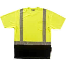 Xtreme-Flex Class 2 Short Sleeve Safety T-Shirts (Men''s, Yellow/Black/Silver)