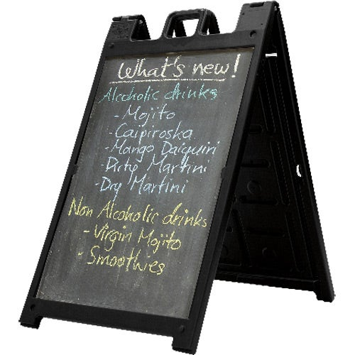 Black Signicade Deluxe A-Frame Chalkboard Kit