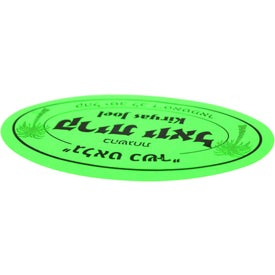 "Imprinted 2"" x 3"" Oval Custom Label"