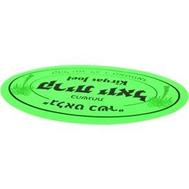 "Imprinted 2"" x 3"" Oval Custom Label"