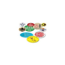 "3"" x 4"" Oval Custom Label"