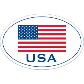 Oval USA Flag Decals
