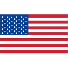 Rectangle USA Flag Decals