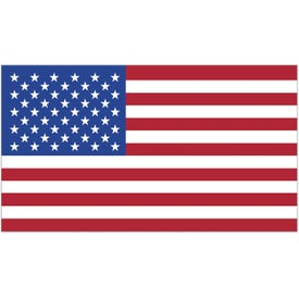Rectangle USA Flag Decals (4