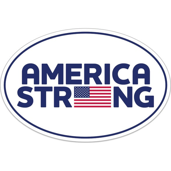 White UNITE for The FIGHT Oval Bumper Sticker - America Strong