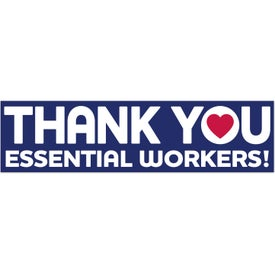 UNITE for The FIGHT Rectangle Bumper Sticker - Thank You Essential Workers