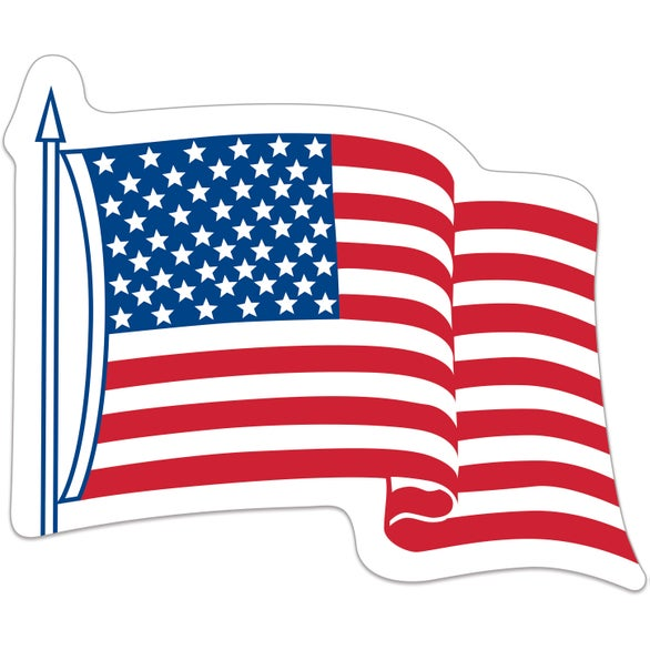 American Flag Waving USA Flag Decal