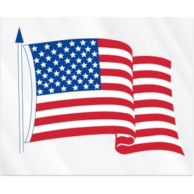 "Waving USA Flag Decals (4.25"" x 3.5"")"