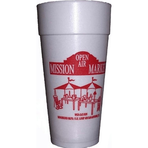 White Styrofoam Hot or Cold Cup