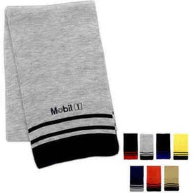 Deluxe Acrylic Scarf with Stripe