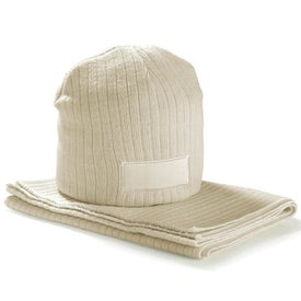 Printed Hat and Scarf Set