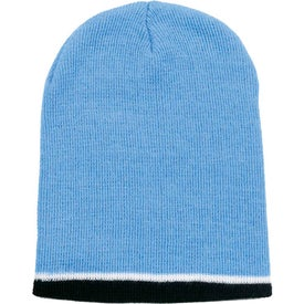 Tri-Color Beanie Printed with Your Logo