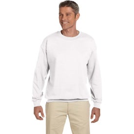 Gildan Adult Heavy Blend 50/50 Fleece Crew Sweatshirts (Men''s, White)