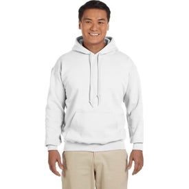 Gildan Adult Heavy Blend 50/50 Pullover Hooded Sweatshirt (Men's, White)