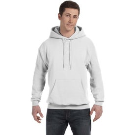 Hanes Ecosmart 50/50 Pullover Hooded Sweatshirt (Men's, White)