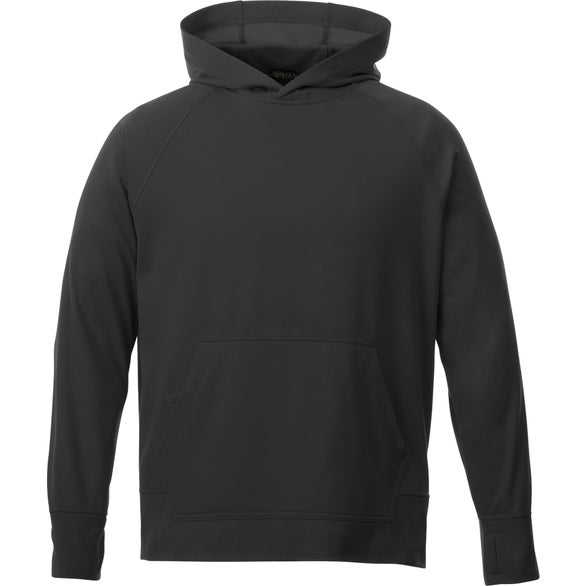 Black Coville Knit Hoodie by TRIMARK