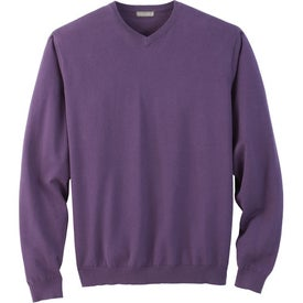 Printed Freeport V-Neck Sweater by TRIMARK